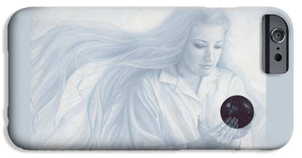 The Universe Paintings iPhone Cases - Exterior to the Physical Universe iPhone Case by Lucie Bilodeau
