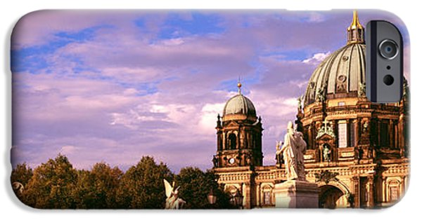 Berlin Germany iPhone Cases - Exterior View Of The Berlin Dome iPhone Case by Panoramic Images
