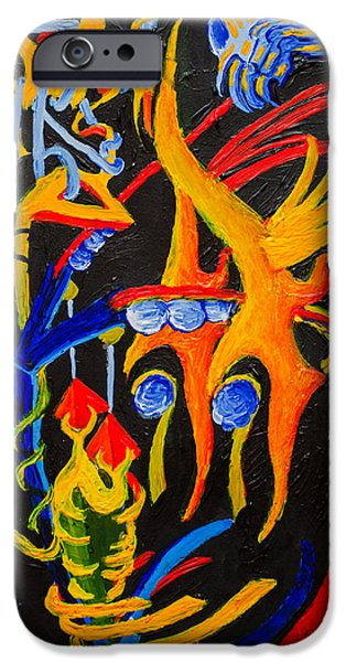 Mechanism Paintings iPhone Cases - Externalized Mind Fragment iPhone Case by Maxwell Hanson
