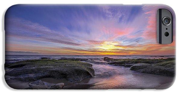 Ocean Sunset iPhone Cases - Extinguish iPhone Case by Sean Foster