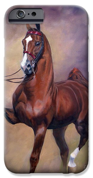 American Saddlebred iPhone Cases - Extreme Rites iPhone Case by Jeanne Newton Schoborg