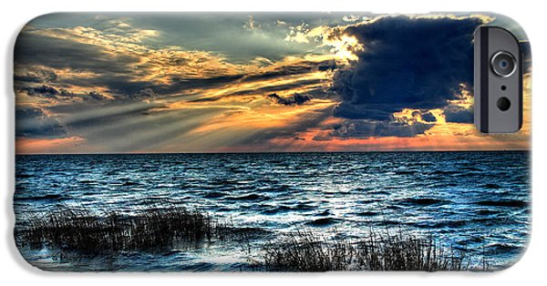 Pamlico Sound iPhone Cases - Extreme Sunset - Outer Banks iPhone Case by Dan Carmichael