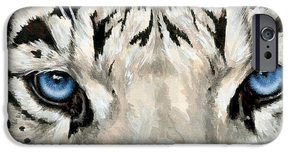 iPhone Cases - Eye-Catching Royal White Bengal iPhone Case by Barbara Keith