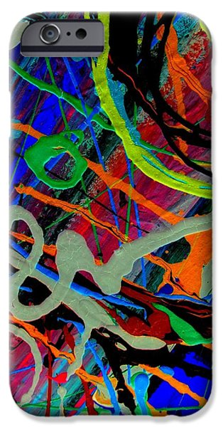 Abstracts Tapestries - Textiles iPhone Cases - Eye Of Expression iPhone Case by David Rogers