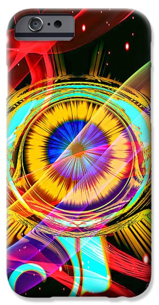 Horus Digital Art iPhone Cases - Eye Of Horus iPhone Case by Eleni Mac Synodinos