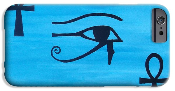 Horus iPhone Cases - Eye of horus Eternal Life iPhone Case by Emma Farrow