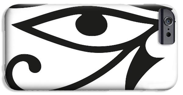 Horus iPhone Cases - Eye of Horus iPhone Case by Peter Hermes Furian