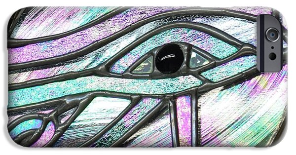 Horus iPhone Cases - Eye of Horus iPhone Case by Rosalind Duffy