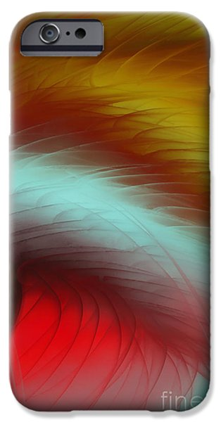 Abstract Digital Paintings iPhone Cases - Eye Of The Beast iPhone Case by Anita Lewis