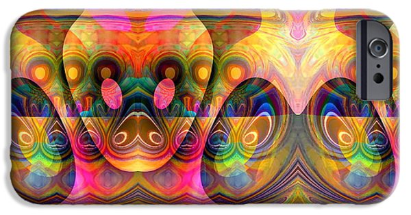 Recently Sold -  - Abstract Digital iPhone Cases - Eye Of The Snake iPhone Case by Visual Artist  Frank Bonilla