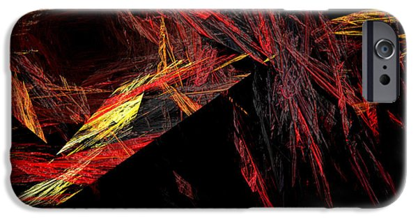 Concept Mixed Media iPhone Cases - Eye Of The Storm 1 - Direct Hit - Abstract - Fractal Art iPhone Case by Andee Design