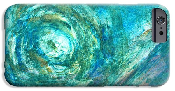 Printmaking iPhone Cases - Eye of The Storm iPhone Case by Alexandra Jordankova