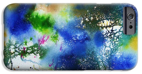 Blue Paintings iPhone Cases - Eye of the Storm iPhone Case by BJ Pinkston