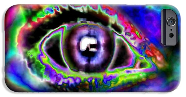 Abstract Digital iPhone Cases - Eye Of The Storm iPhone Case by TLynn Brentnall