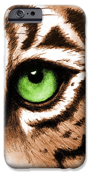 Eye Of The Tiger iPhone Cases - Eye of the Tiger iPhone Case by Michelle Eshleman