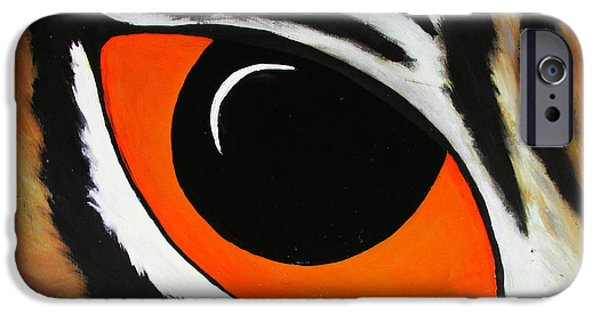 Mike The Tiger iPhone Cases - Eye of the TIger  iPhone Case by TheKingofIdeas TKOI
