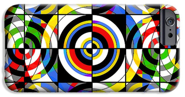 Fine Abstract Mixed Media iPhone Cases - Eye On Target iPhone Case by Mike McGlothlen