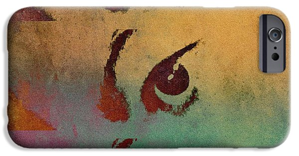 Artistic Portraiture iPhone Cases - Eye Spy iPhone Case by Susan Maxwell Schmidt