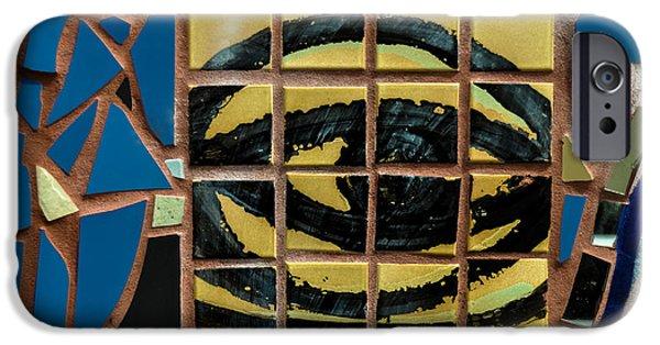 Vato iPhone Cases - Eye Tile Art Graffiti iPhone Case by Gary Keesler