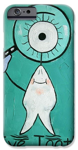 Eye Digital iPhone Cases - Eye Tooth  iPhone Case by Anthony Falbo