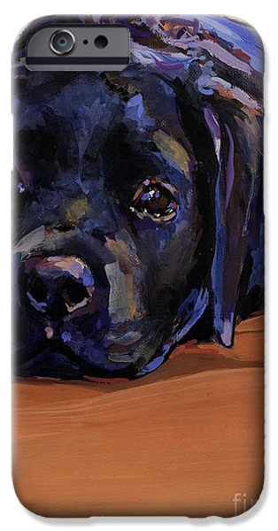 Labrador Puppy iPhone Cases - Eyes For You iPhone Case by Molly Poole