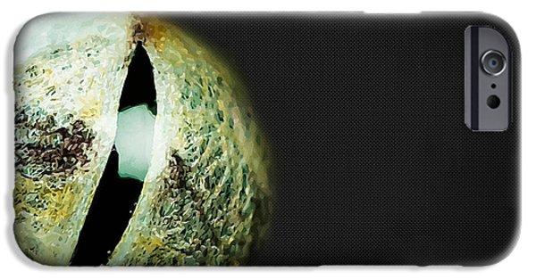 Snake Digital iPhone Cases - Eyes - Gateway to the Soul. Snake Eye of Wisdom. iPhone Case by Serge Averbukh