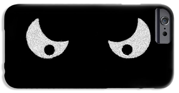 Creepy iPhone Cases - Eyes - In the dark iPhone Case by Mike Savad