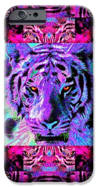 Eyes of The Bengal Tiger Abstract Window 20130205p0 iPhone Case by Wingsdomain Art and Photography