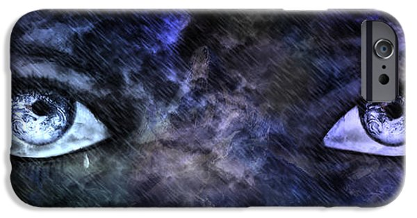 Torn iPhone Cases - Eyes of The Mother iPhone Case by Leanne M Williams