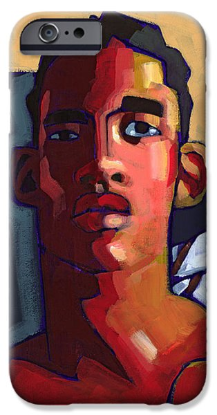 Figures Paintings iPhone Cases - Eyes on the Prize iPhone Case by Douglas Simonson