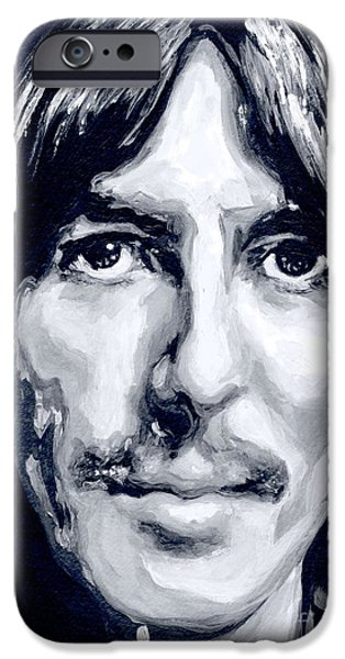 Beatles iPhone Cases - Eyes that shining full of inner light iPhone Case by Tanya Filichkin