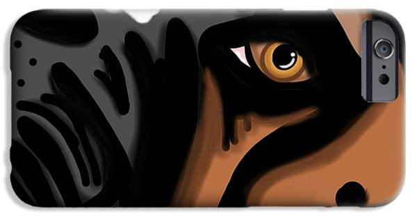 Boxer Digital iPhone Cases - Eyes to The Soul iPhone Case by Christina Kulzer
