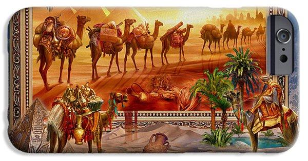Egypt iPhone Cases - Eygptian Scene iPhone Case by Jan Patrik Krasny