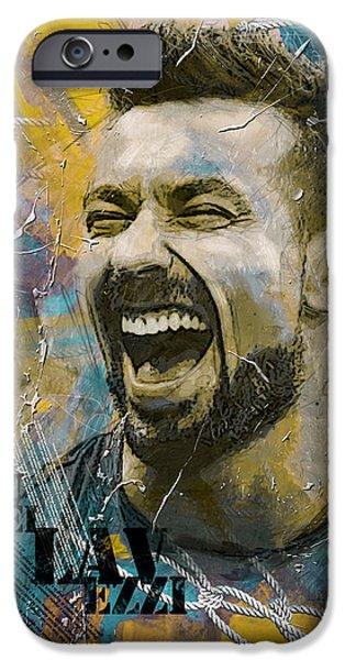 Corporate Art iPhone Cases - Ezequiel Lavezzi iPhone Case by Corporate Art Task Force