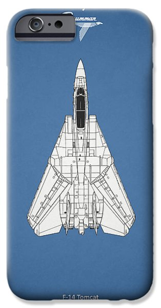 Flight iPhone Cases - F-14 Tomcat iPhone Case by Mark Rogan