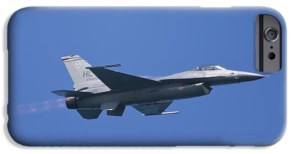 Flight iPhone Cases - F-16 Fighting Falcon iPhone Case by Adam Romanowicz