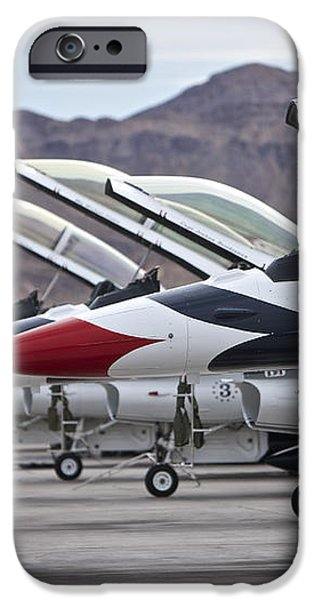 F-16c Thunderbirds On The Ramp iPhone Case by Terry Moore