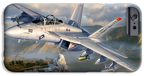 F-18 iPhone Cases - F-18F Stopping Maritime Terror iPhone Case by Stu Shepherd