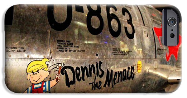 United iPhone Cases - F-86D Sabre Dennis The Menace iPhone Case by Dan Sproul