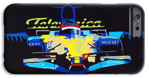 Indy Car iPhone Cases - F1 iPhone Case by Bryan Dubreuiel