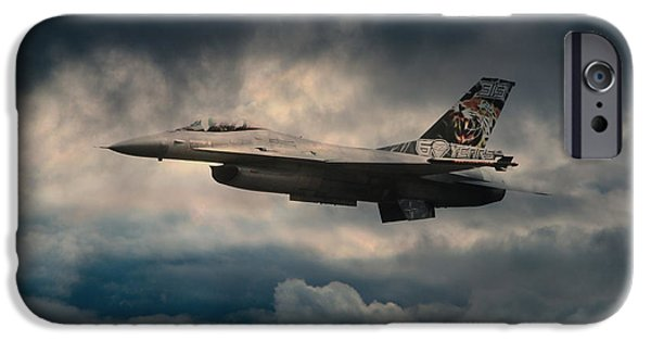 Fighting Tigers iPhone Cases - F16 Tiger iPhone Case by J Biggadike