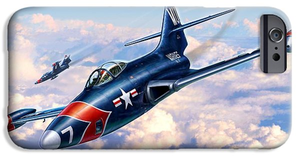 Panther Digital iPhone Cases - F9F-5P Photo Panthers iPhone Case by Stu Shepherd