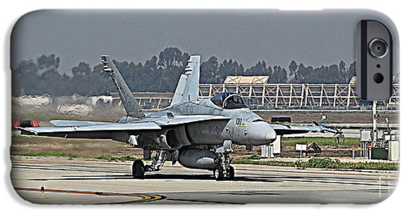Jet Pyrography iPhone Cases - FA-18 Hornet iPhone Case by Jason  Sewell