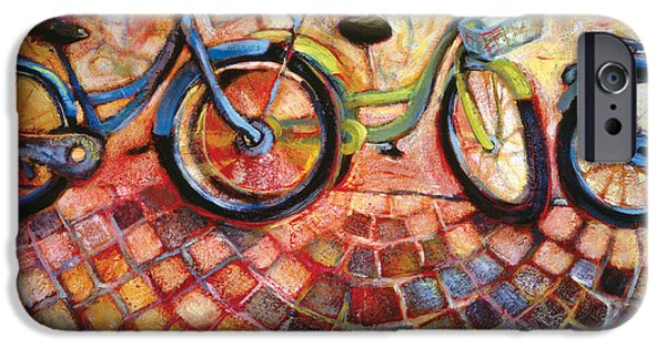 Bicycle iPhone Cases - Fa Caldo Troppo Guidare iPhone Case by Jen Norton