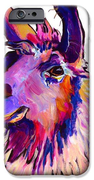 Llama iPhone Cases - Fabio iPhone Case by Pat Saunders-White