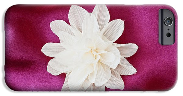 Sheets iPhone Cases - Fabric flower iPhone Case by Tom Gowanlock