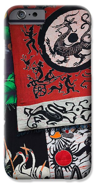 Chinese Market iPhone Cases - Fabric Items For Sale At A Market iPhone Case by Panoramic Images