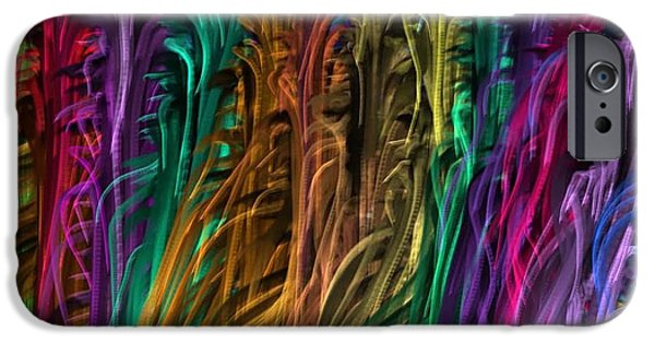 Diy iPhone Cases - Fabric Textures  Threads Strands COLORFUL Wave DIY Template Download License Print Rights iPhone Case by Navin Joshi