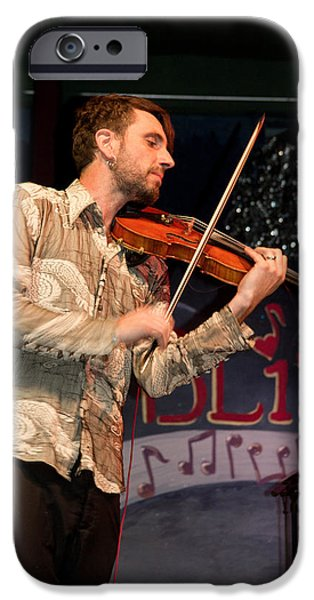 Bill Gallagher iPhone Cases - Fabrice Martinez of Fishtank Ensemble iPhone Case by Bill Gallagher