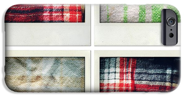 Textile Photographs iPhone Cases - Fabrics iPhone Case by Les Cunliffe